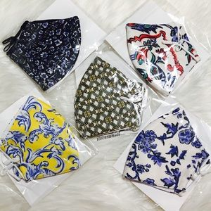 {Tory Burch} 2 Layers Polyester Masks - Lot of 5